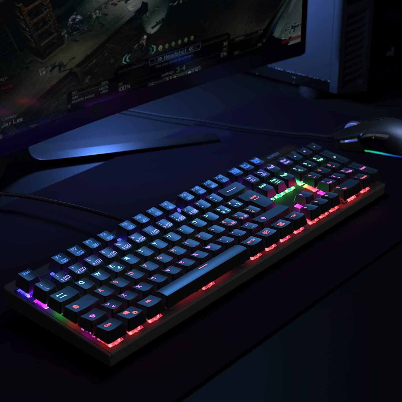 AUKEY LED-Blacklit Tastiera da Gaming Copertina