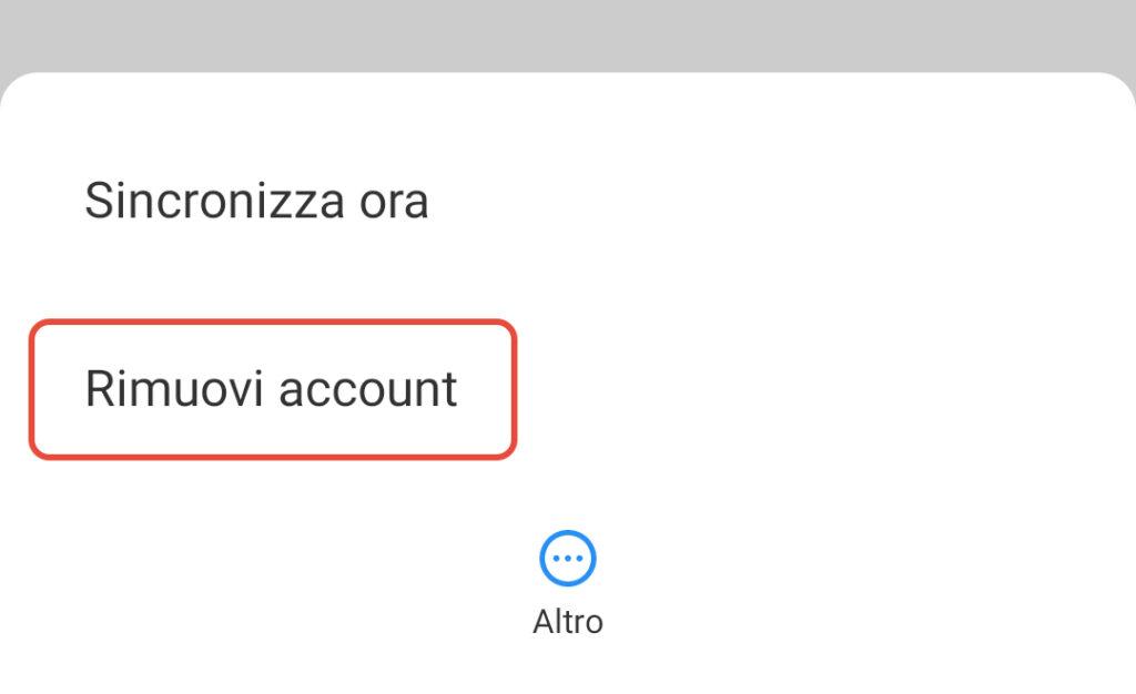 Cambiare Account Google su Android Schermata 6