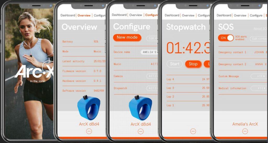 ArcX smart ring App