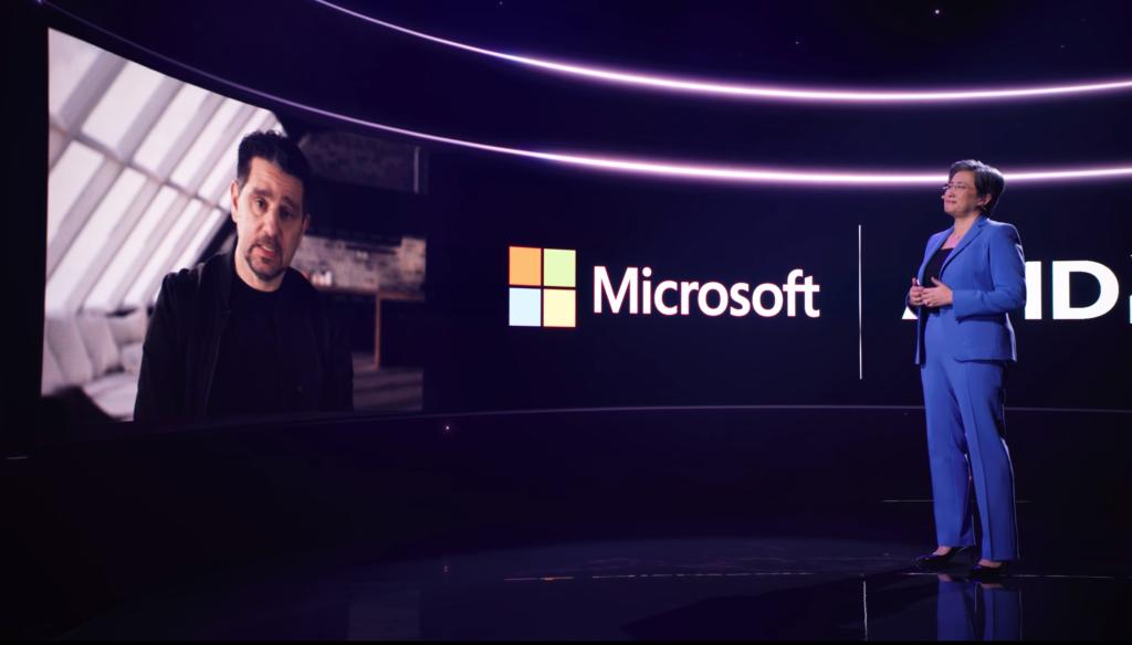 Lisa Su and Microsoft