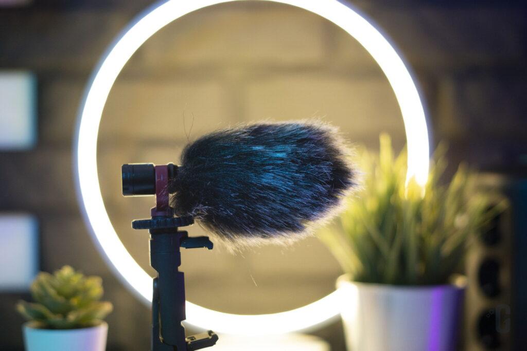 Vlog Kit CM600 K&F Concept - Microfono a condensatore cardioide con peluche antivento