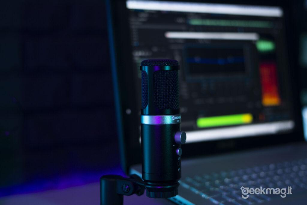 Microfono Moman EM1 con Adobe Audition