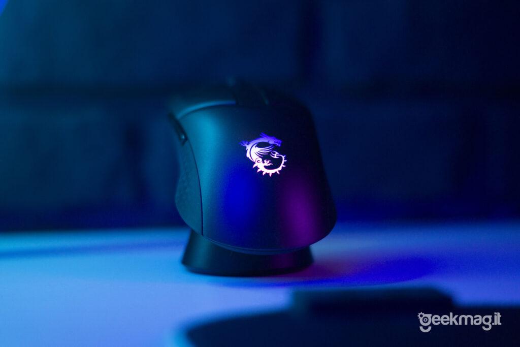 Clutch GM41 Lightweight Wireless Mouse da Gaming MSI - Combo base di ricarica