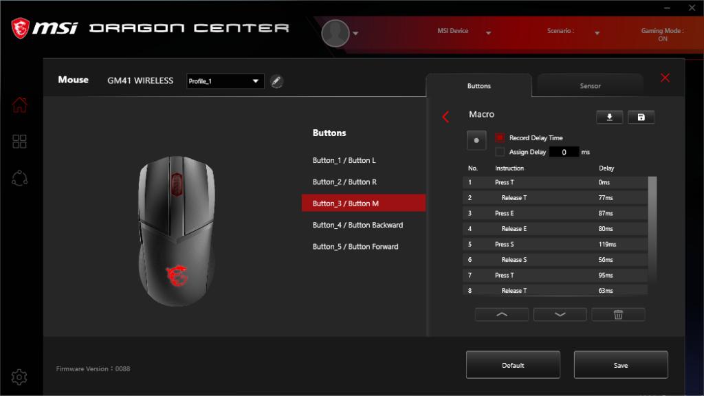 Screenshot Dragon Center MSI