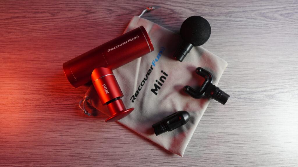 Pistola massaggiante RecoverFun Mini- Panoramica dall'alto
